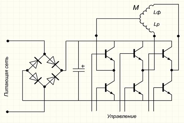 Из однофазного двигателя удаляют конденсатор