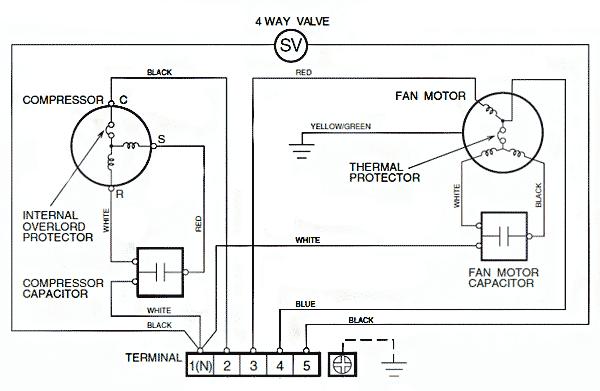 Схема электрическая принципиальная кондиционера