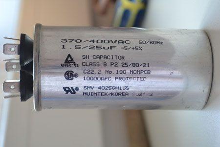 Двойной пусковой конденсатор кондиционера