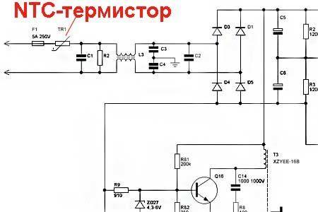 Термистор ptc в схеме