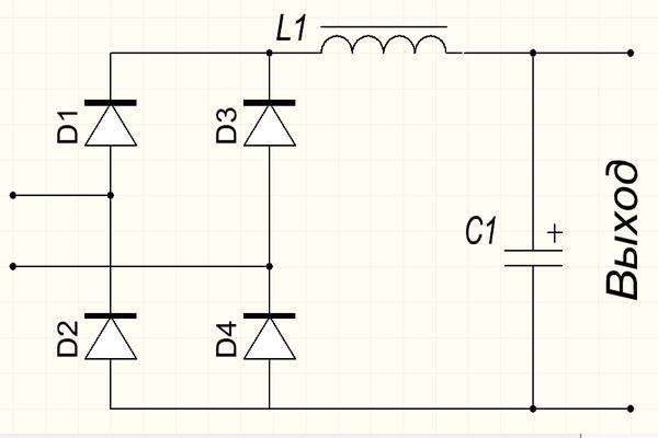 Схема пассивного ККМ