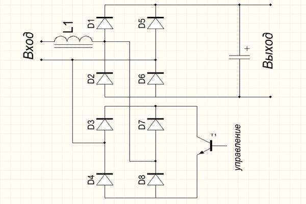 Схема активного ККМ