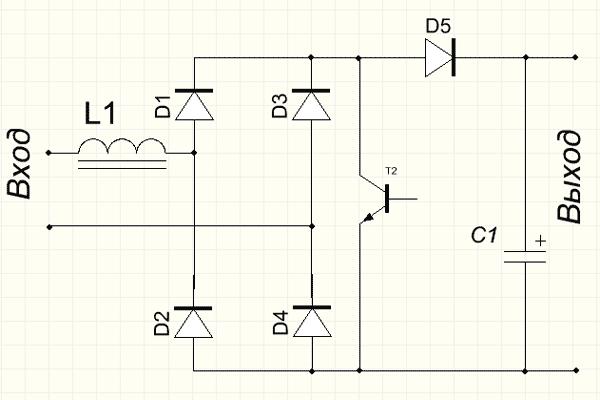 Схема активного ККМ в
