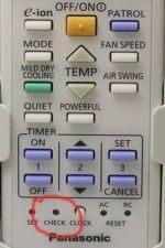 Пульт управления Panasonic  с кнопкой CHECK